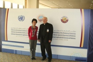 Seamus Finn, OMI and Sr. Zelia Cordeiro SSPS of VIVAT International at the Doha Conference