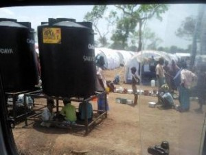 Waiting for Water at Manik Camp