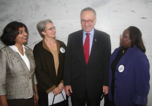 Church Climate Change Activists with Sen Schumer
