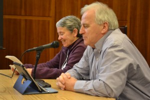 Fr. Seamus Finn, OMI and Sr. Judy Byron, OP at the ICCR meetings