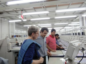 Christina Herman visiting Standard Group factory near Dhaka