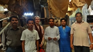 Water activists join the JPIC group in visiting a leather tannery.