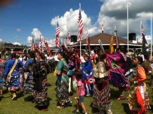 Members of the Ojibwe tribe at the annual pow-wow in Ponsford, MN