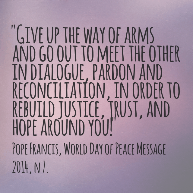 Pope Francis Issues World Day of Peace Message » Justice